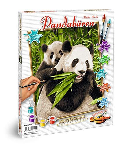 Schipper 609240712 Malen nach Zahlen, Pandabären - Bilder malen für Erwachsene, inklusive Pinsel und Acrylfarben, 24 x 30 cm