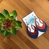 Glitter Baseball Earrings
