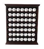 DECOMIL - 49 Vitrina para pelotas de golf con soporte de pared - Sin puerta - Color cereza