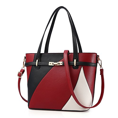Top Handle Bags for Women Leather Tote Purses Handbags Satchel Crossbody Shoulder Bag form Nevenka (Red)