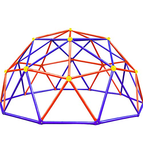 Zupapa New Upgraded Outdoor Geometric Dome Climber with 750LBS Weight Capability, 3-Year Warranty with 3D Assembly Video,Suitable for 1-6 Kids Climbing Frame