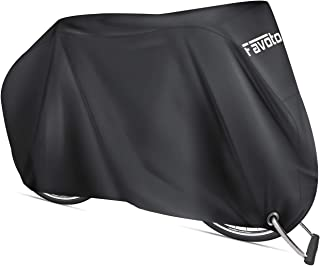 Favoto Bike Cover Waterproof Outdoor Bicycle Cover Thicken Oxford 29 Inch Windproof UV Snow Rustproof with Lock Hole Storage Bag for Mountain Road Bike City Bike Beach Cruiser Bike