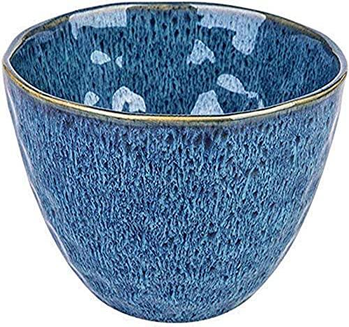 Plato de frutas Cuencos De Frutas Snack Dip Bowls Dishware Vintage Tazón De Cerámica, Ama De Casa Moderna Sopa De Arroz Grande, Pasta Doméstica, Ensalada, Fruta [15.3x9.7cm] Cesta de fruta(Color:Azul)