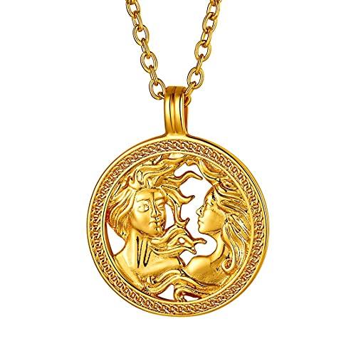 Collar de Géminis bañado en oro