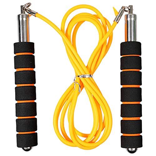 Springseil Premium Skipping Jump Rope Verstellbare Stahlseil Kugellager & Hautfreundlichen Fitness Equipment Sport zuhause für für Kinder und Erwachsene 2.7M Für Fitness, Ausdauer & Abnehmen