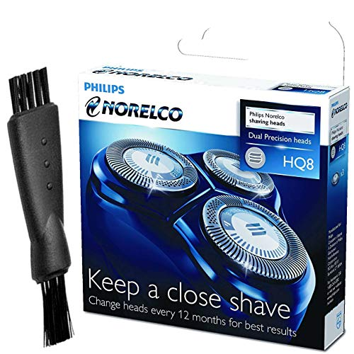 Philips Norelco HQ8 Replacement Heads with Shaver Cleaning Brush - Bundle