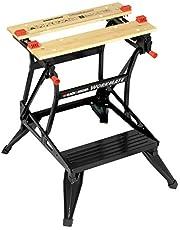 Black+Decker WM536 Flexibele werkbank met groot werkblad, in hoogte verstelbaar en eenvoudig te hanteren, belastbaar tot 160 kg, afmetingen (werkoppervlak): 25,0 x 61,0 cm