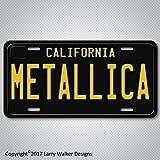 METALLICA Black 1960s Vintage California Aluminum License Plate Tag