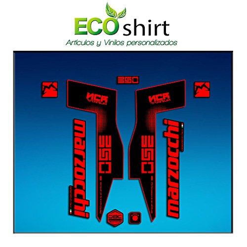 Ecoshirt 6X-CPEF-QQXY Sticker Sticker Fork Marzocchi 350 NCR Titanium Am72 Aufkleber Decals Autocollants Adesivi Forcela Gabel Fourche Gabel Gabel Rot