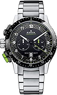 EDOX - Reloj Analógico para Hombre de Cuarzo con Correa en Acero Inoxidable 10305 3NVM NV
