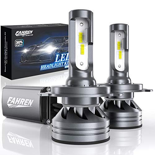 Fahren H4 LED ヘッドライト LED バルブ H4 Hi/Lo 6500K 新車検対応 車/バイク用 12000LM/6000LM*2 60W/30W*2 IP68 ホワイト 2個入