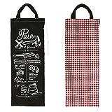 Bolsa de pan 'Pain Et Farines'negro rojo.