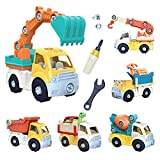 OMNISAFE 6 in 1 Take Apart Truck Construction Set, STEM Education Learning Toys, DIY Engineering Building PlaySet for Kids Toddlers