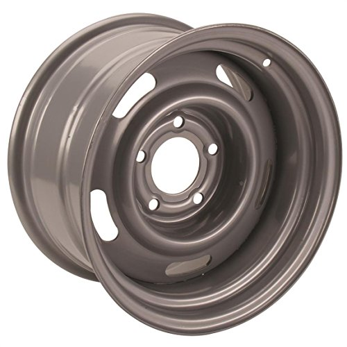 Steel GM-Style 15x8 Rally Wheel, 5 on 5 Bolt Pattern, Silver