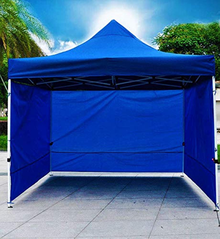 Varossa Heavy Duty 3m x 3m Pop Up Gazebo Marquee Tent with 3 Side Walls bluee