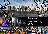 Fernweh New York City (Wandkalender 2022 DIN A2 quer): Fernweh-Kalender von der atemberaubendsten Stadt der Welt mit aufregenden neuen und aussergewoehnlichen Fotografien (Monatskalender, 14 Seiten )