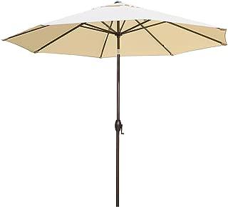 Abba Patio 11-Feet Patio Umbrella Outdoor Table Umbrella with Push Button Tilt and Crank, Sand/Beige