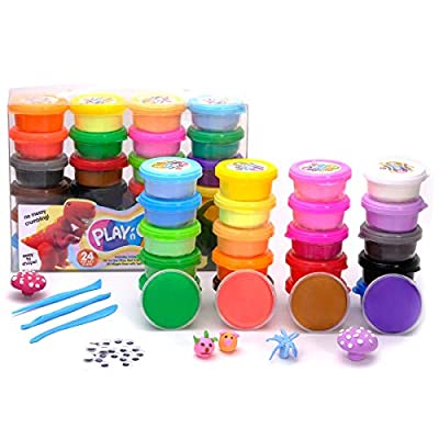 TBC The Best Crafts Model Magic Clay, 24 Colors Air Dry Clay,Ultra Light,Smooth,Non-Toxic, Creative Sensory Toys,Art & Crafts Gift for Kids