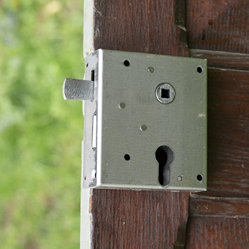 Antikas - Kastenschloss für Zylinderschloss, Türbeschlag für links zu öffnende Tür