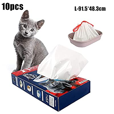 josietomy Cat Litter Toilet Garbage Bag Cat Litter Tray Bags Cat Litter Toilet Garbage Bag Thickened Disposable Environmentally Friendly Rope Pet Garbage Bag, Pet Supply Dog Pet Waste Poop Bags from josietomy