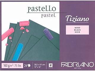 Fabriano Tiziano Pastel Blocks Black 160 GSM 30.5 X 41 CM