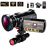 4K Wifi Full Spectrum Camcorders, Ultra HD Infrared Night...