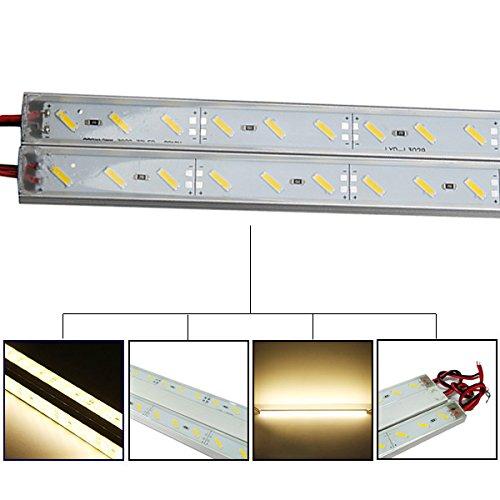 HVTKL 50cm IP68 9W SMD 7020 36LED Warmweißer LED-Streifen-Swimmingpool 12V HVTKL