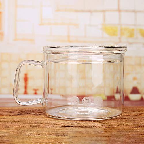 Cacerola de vidrio,Cuencos de Vidrio Olla,Olla de cocina de vidrio transparente de 1.3L resistente al calor con tapa Cacerola de cocina Olla de estofado multifunción para cocina casera Restaurante