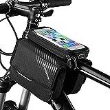 """ROCKBROS Bolsa de Cuadro Tubo Superior de Bicicleta con Pantalla Táctil para Móvil de 6,0"""" iPhone X XS 7 8 Plus para MTB Ciclismo Negro"""
