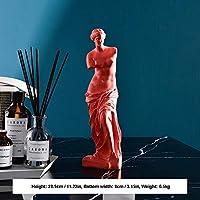 装飾用ホームクラシックデビッドバスト像肖像彫刻樹脂手芸オフィス家の装飾置物ギフト,Height:28.5cm-Orange