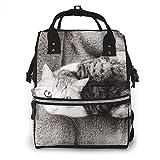 Lindo animal gato gatito bolsa de pañales mochila impermeable multifunción bolsas cambiantes maternidad pañales bolsas durable gran capacidad para mamá papá viaje cuidado