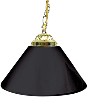 Trademark Gameroom Black Single Shade Gameroom Lamp, 14  (Brass Hardware)