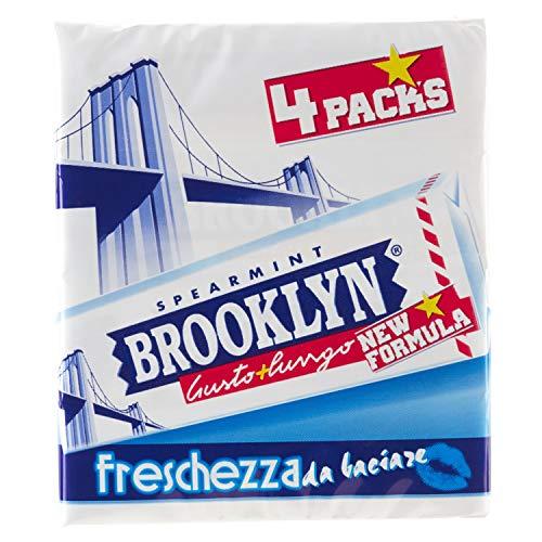 Brooklyn Spearmint, chewing gum, - [Confezione multipack 4 stick]