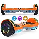 SISGAD Hoverboard, Self Balancing Scooters 6,5 Pulgadas Hoverboard Hover Scooter Board con música Bluetooth, Luces LED y Potente Motor para niños y Adolescentes