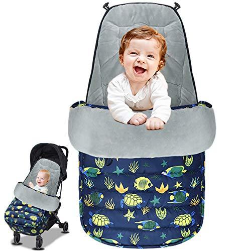 Saco de Dormir Para Bebé Funda, 3 en 1 Universal de invierno de cálido saco de Dormir del bebé Cochecito Cubierta de pie Impermeable a Prueba de Viento a Prueba de Frío Desmontable