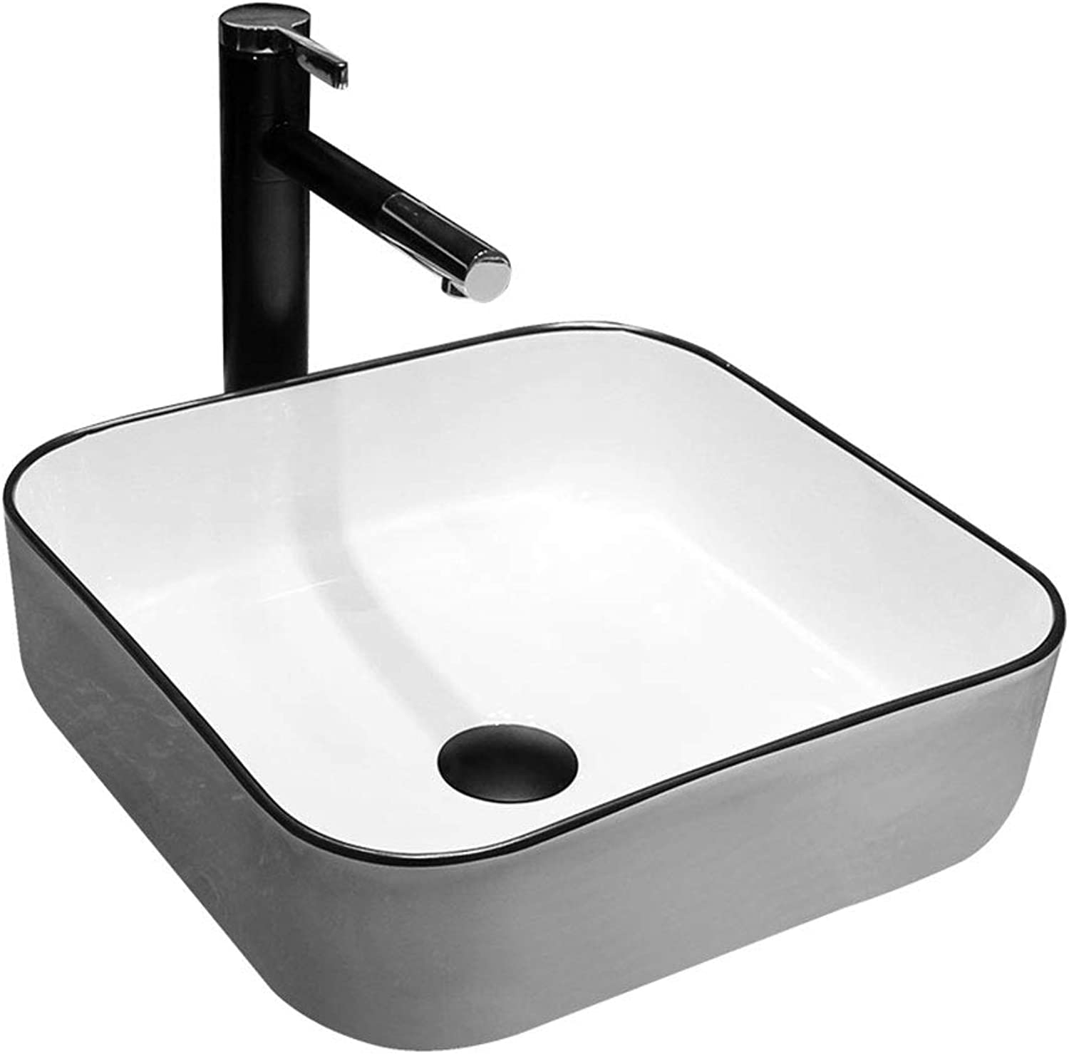 Bathroom Square Small Washbasin Sink Jingdezhen Ceramic Hotel Anti-splash Wash Basin Bathroom sinks
