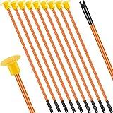 10 Piezas Juguetes de Flechas de Repuesto con Ventosa Flechas de Reemplazo de Tiro con Arco con Punta de Goma para Niños Niñas Flechas de Arco para Interiores Exteriores (Naranja)