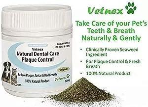 Vetnex Natural Dental Care Plaque Control Powder Original for Dogs Cats 100g