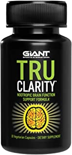 Giant Keto Tru Clarity - Keto Nootropic Brain Support Supplement for Better Memory, Focus, and Mental Clarity with B12, Ginkgo Biloba, DMAE, Bacopa - 30 Capsules