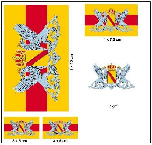 Aufkleber Set Großherzogtum Baden Fahne Flagge