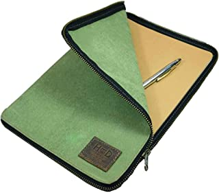 Hide & Drink, Zippered Journal Cover for Moleskine Notebook, XL (7.5 x 9.75 in.), Notebook NOT Included, Cahier Case, Handmade Includes 101 Year Warranty :: Waxed Canvas