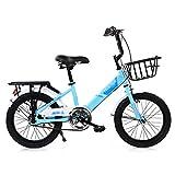 BaoKangShop Draisiennes Vélo for Enfants Vélo à pédales à Absorption de Chocs Poussette Maternelle 5-15 Ans Poussette Maternelle Vélos et Véhicules pour Enfants (Color : Blue, Size : 18 inches)