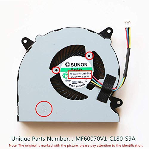 KENAN Laptop Replacement Cooler Fan for ASUS N550 N550J N550JV N550L N750 N750JV N750JK G550J G550JK CPU Cooling Fan MF60070V1-C180-S9A