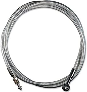 Pro Braking PBF9118-CLR-SIL Front Braided Brake Line Transparent Hose /& Stainless Banjos