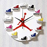 Disco de Vinilo Reloj de Pared Creativo 3D Zapatillas de Deporte Modelo de decoración Reloj de...