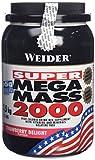 Weider Weight Gainer Mega Mass 2000 Complément alimentaire Fraise 1500 g