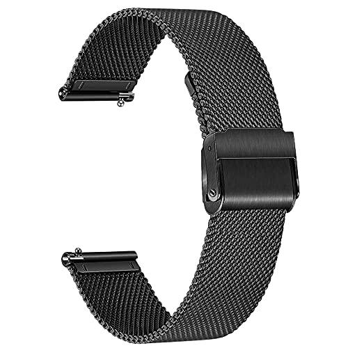 Correa De Reloj De Metal De Acero Inoxidable Durable Ajustable Liberación Rápida Reloj Reloj De Malla De Malla De Malla para Mujeres Mujeres