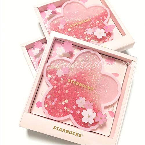 ATIN Personalizado Romántico Rosa Sakura Blossom Quicksand Cup Mat Taza de café Posavasos/Pot Pad para taza de café taza y vidrio