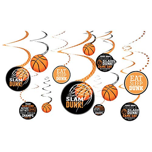 Basketball Swirl Party Decorations