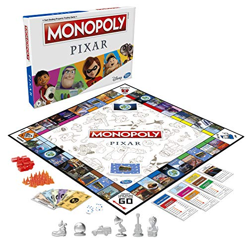 MONOPOLY: Pixar Edition Board Game for Kids 8 and Up, Buy Locations from Disney and Pixar